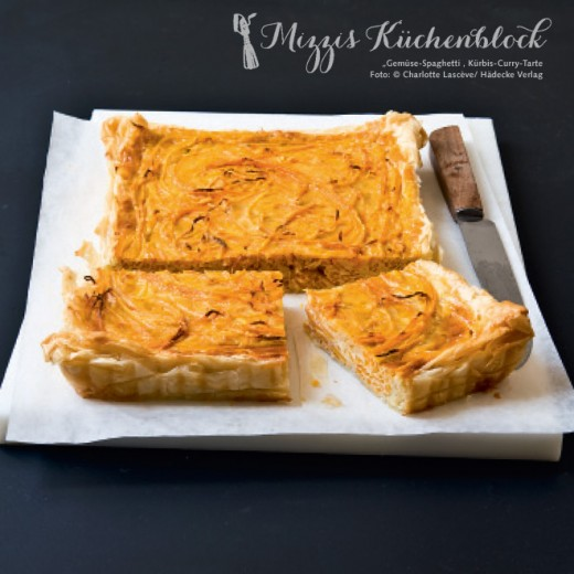 Kürbis-Curry-Tarte mit Kokosnuss