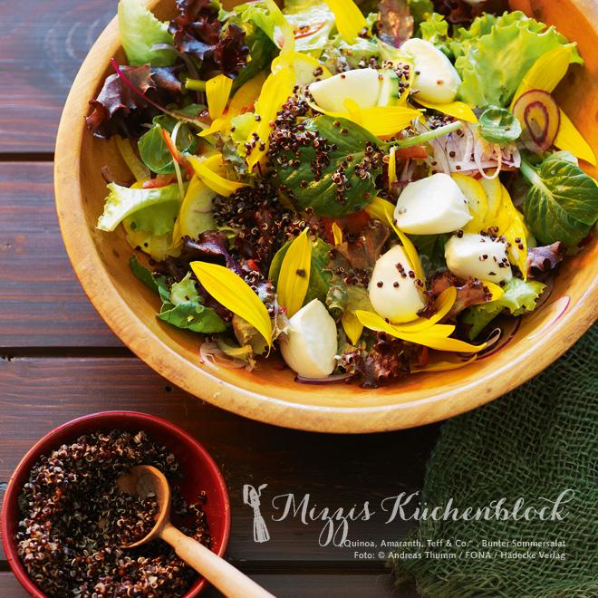 Rezept der Woche · Bunter Sommersalat mit Quinoa