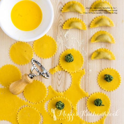 Ravioli mit Spinat und Ricotta ·Rezeptwoche