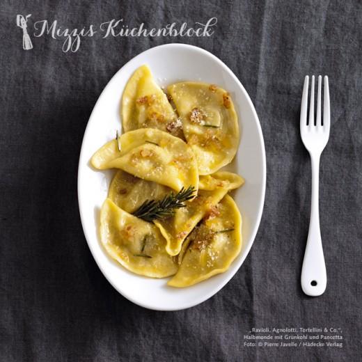 Ravioli mit Grünkohl und Pancetta