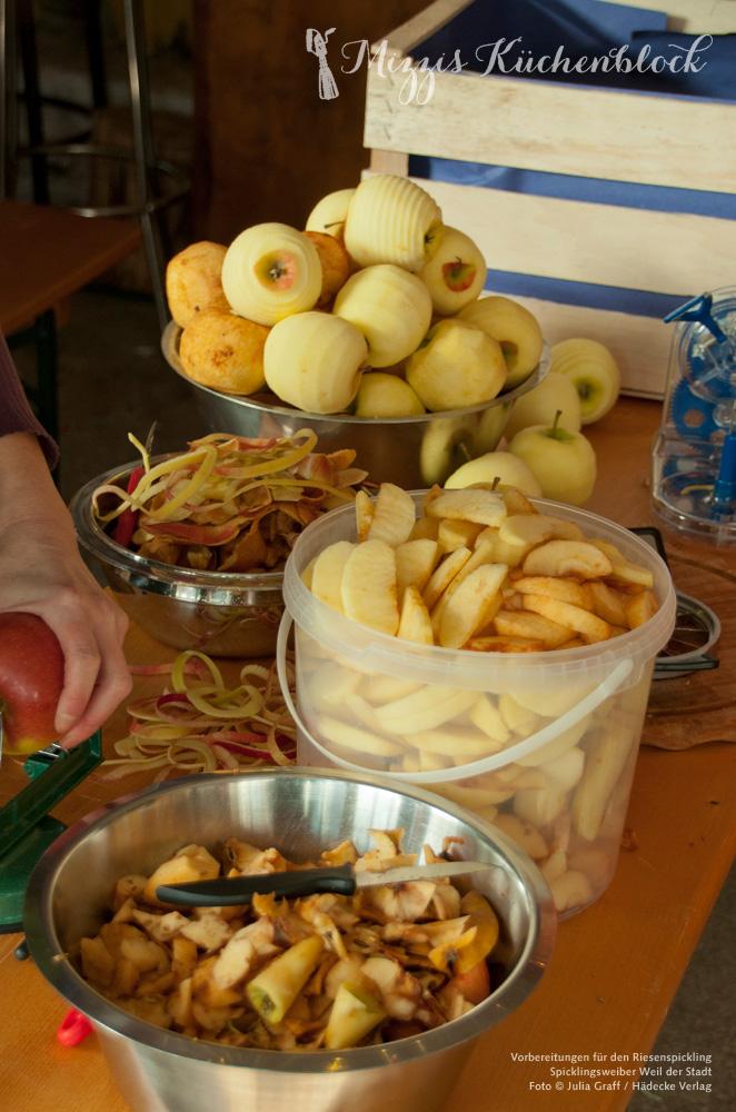 Spicklingsweiber Äpfel